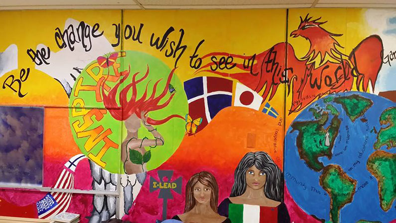 Be the Change mural